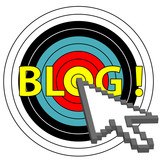 Blog on Target Click with Arrow Cursor Icon