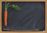 carrot, stick and blackboard - school motivation poster