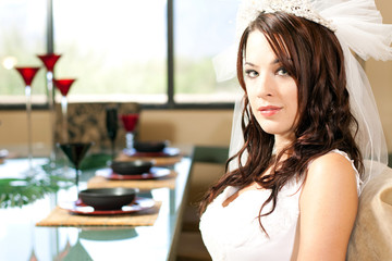 Bride at her Wedding Day dinner!
