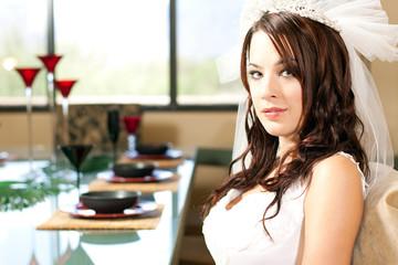 Bride at her Wedding Day dinner!