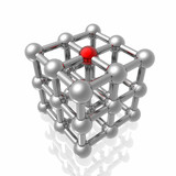 Render of molecular structure poster