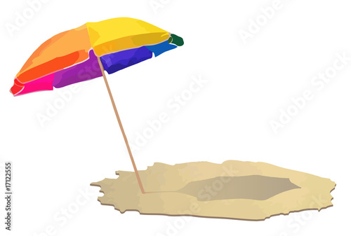Umbrella at the beach
