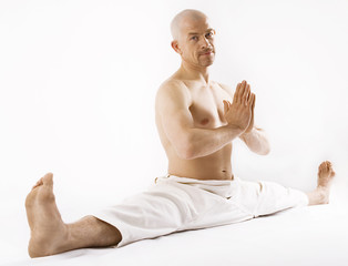 Man  sitting yoga style