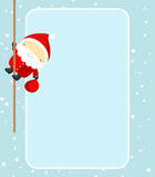 Christmas card with Santa Claus. EPS. Full editable. poster