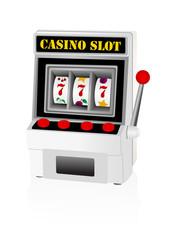 Illustraiton of a detailed slot machine