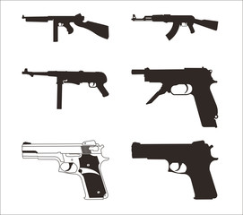 Illustration of a guns