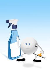 blue glass spray