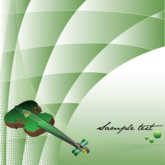 Background with green violin