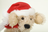 Doggy Santa Clause; close-up poster