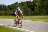 Triathlete Cycling poster