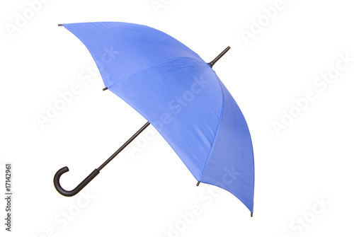 blue umbrella opened
