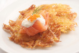 Kartoffelpuffer mit Räucherlachs