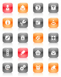 Red and orange buttons miscellaneous poster