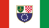 Bosnia and Herzegovina, Federation of Flag poster