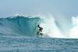 Surfer in the barrel, Mentawai Islands, Indonesia