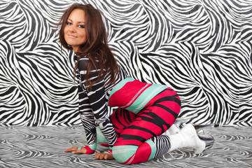 Girl in Zebra sexy style