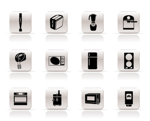 Simple Kitchen and home equipment icons - vector icon set