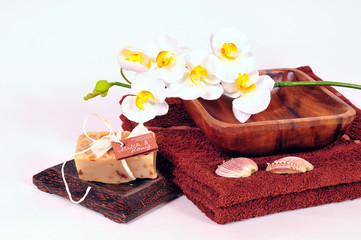 Wellness Orchideen Handtuch