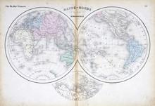 Mapa del Viejo Mundo de 1879