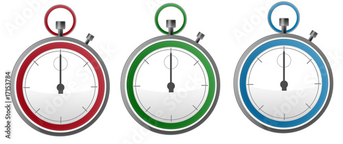 Three Colorful Stopwatch