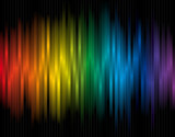 Colorful vector background with spectrum lines poster