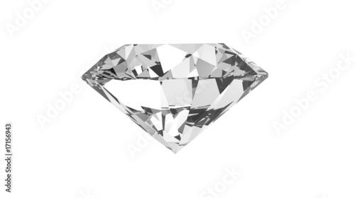 Papiers peints Pierre precieuse diamant fond blanc