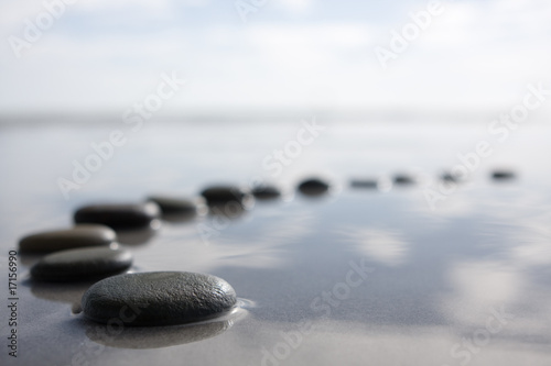 Leinwandbild Motiv stepping stones