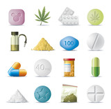 drug icons poster