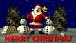 Weihnactsmann mit Schneemann