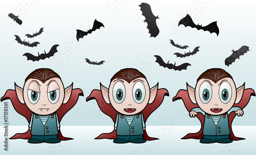 Vampire boys - vector illustration