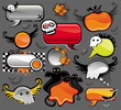 Halloween vector set of design elements.