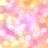 Beautiful abstract bokeh poster