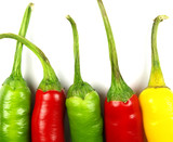 colored chili peppers