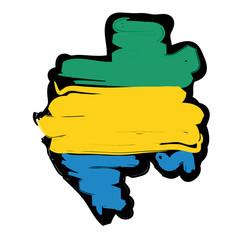 mappa bandiera Gabon