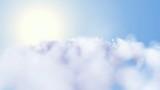 1080p rapid flight, sky, white clouds, Nature, sun, timelapse poster