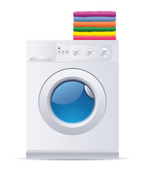 Realistic vector washing machine