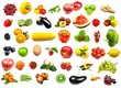 big fruits and vegetables collection