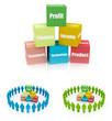 Business Blocks, different colors