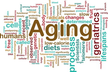 Aging word cloud