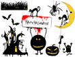 Various Halloween Design Elements