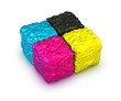 color cubes, cmyk palette