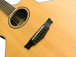 Acoustic guitar close view