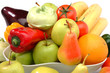 The fresh fruit and vegetable