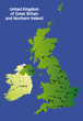 detailed vector map of great britain / uk