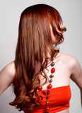 Fototapety woman with curly red hair
