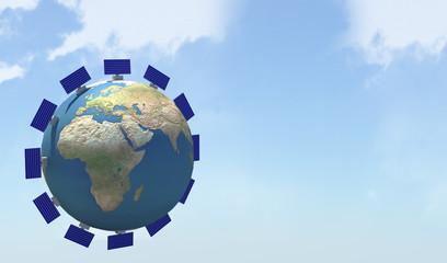 Terra e pannelli solari