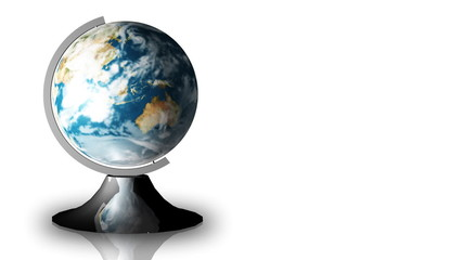 Animation of a turning globe and a stand