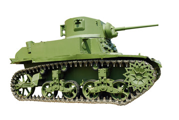 american light tank from WWII isolated