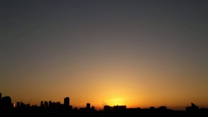 東京の日の入り