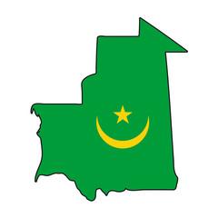 mappa bandiera Mauritania